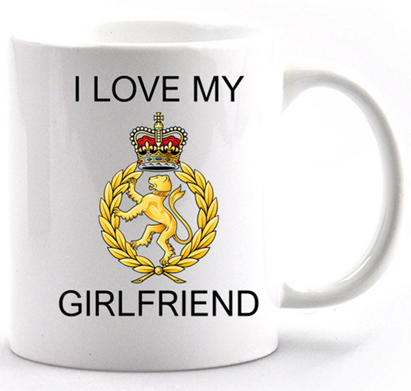 Valentine I Love my WRAC Girlfriend Mug and Gift box set  Ministry of Defence Official MOD Approved Merchandise