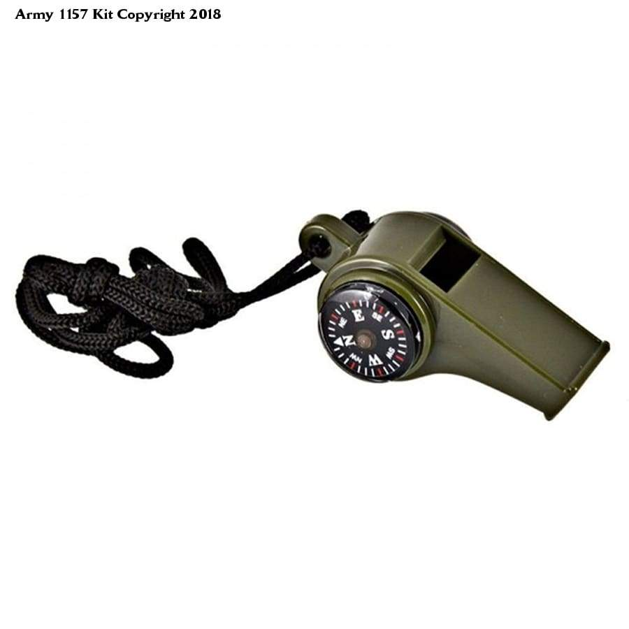 Army Style 3 In 1 Whistle - Bear Essentials Clothing Company