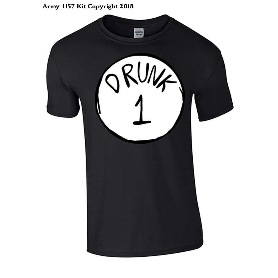 Bear Essentials Clothing. Drunk 1 and 2 T-Shirt - Bear Essentials Clothing Company