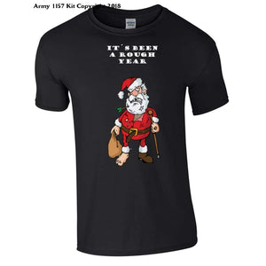 Christmas Rough Year Novelty T-Shirt - Bear Essentials Clothing Company