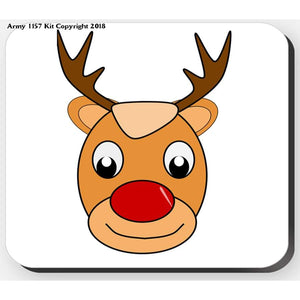 Comical Rudolph - Placemat. Part of the Army 1157 Kit Christmas Collection - Bear Essentials Clothing Company