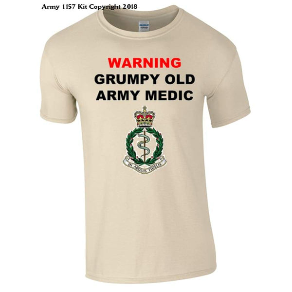 Grumpy Army Medic T-Shirt - Bear Essentials Clothing Company