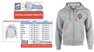 Ministry of Defence Zip Hoodie with Cold Stream Guards Logo Front only Official MOD Approved Merchandise