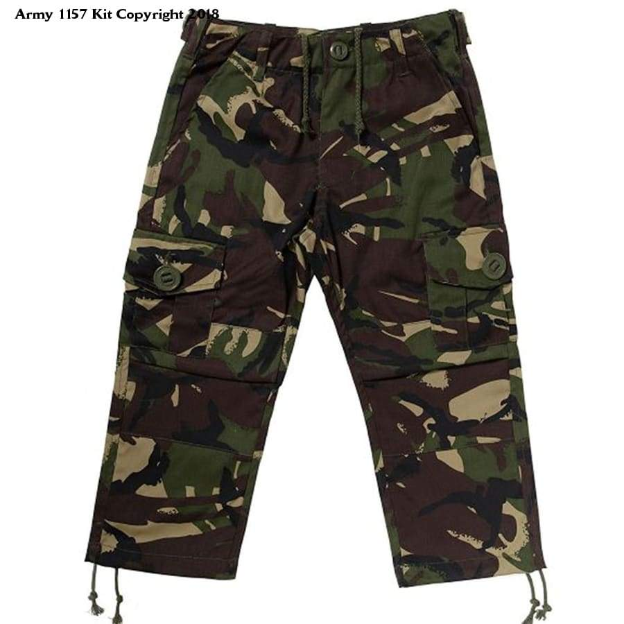 KAS Kids Army Cadet Combat Woodland Camo Trousers - 11/12yrs - Bear Essentials Clothing Company