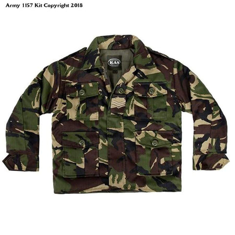 KAS KIDS BOYS COMBAT PADDED JACKET ARMY CLOTHING UNIFORM CAMO CADET CAMOUFLAGE - 9/10yrs - Bear Essentials Clothing Company