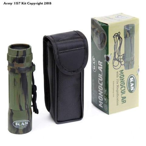 Kids Army Camouflage Monocular 10x25 - Kids Army Roleplay Binoculars - Bear Essentials Clothing Company