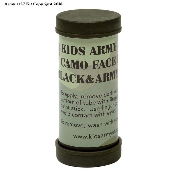 Kids Army Camouflage Two Colour Face Paint Stick - Kids Military Role Play - Bear Essentials Clothing Company