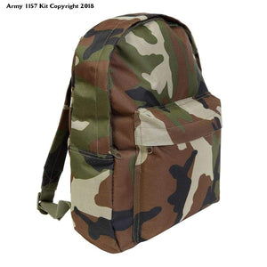 Kids Army Style Camo Rucksack 15ltr Camouflage Back Pack - Kids Army Roleplay - Bear Essentials Clothing Company