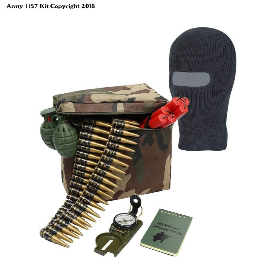 Kids Army Ultimate Great Escape Pack - Kids Military Roleplay Ideas - Bear Essentials Clothing Company