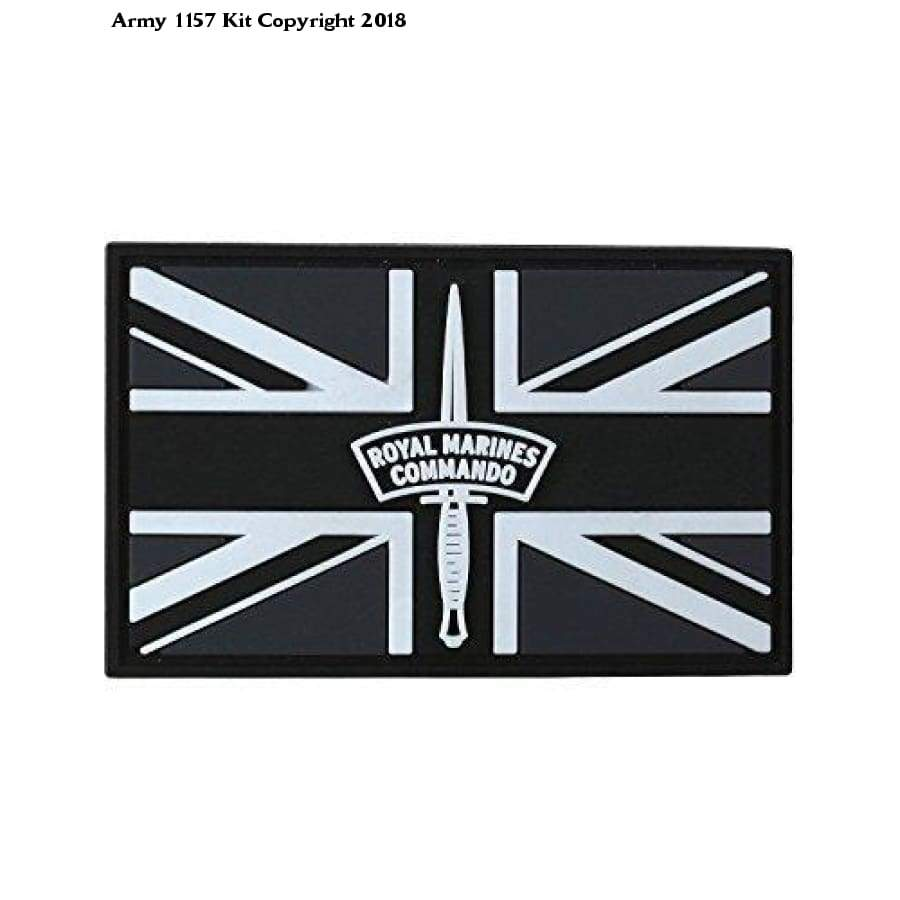 Kombat Royal Marines Commando Patch Pvc With Velcro Backing - Green - Sports