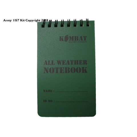 Kombat Uk All Weather Waterproof 50 Page Military Mini Notebook - 5X3 / 1 - Sports