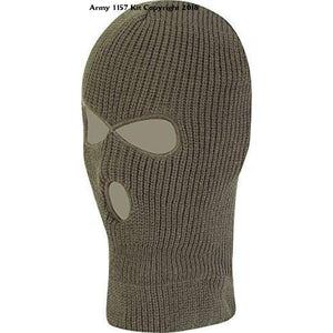 Kombat Uk Olive Green Acrylic 3 Hole Balaclava - Sports