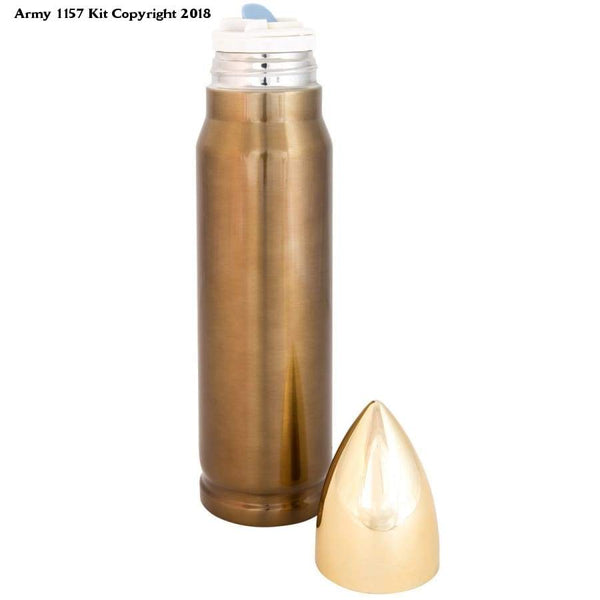 Kombat Uk Unisex Bullet Flask 500Ml Gold - Sports