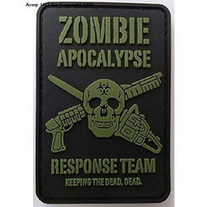 Kombat Zombie Apocalypse Response Team Patch Pvc With Velcro Backing - Sports