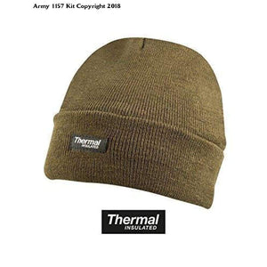 Kombatuk Thinsulat Winter Warm Bob Hat Us Military Watch Cap Outdoor Army - One Size / Olive Green - Apparel