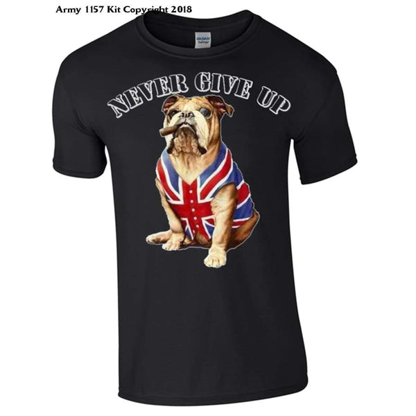 Never Give Up T-Shirt - S / Black - T Shirt