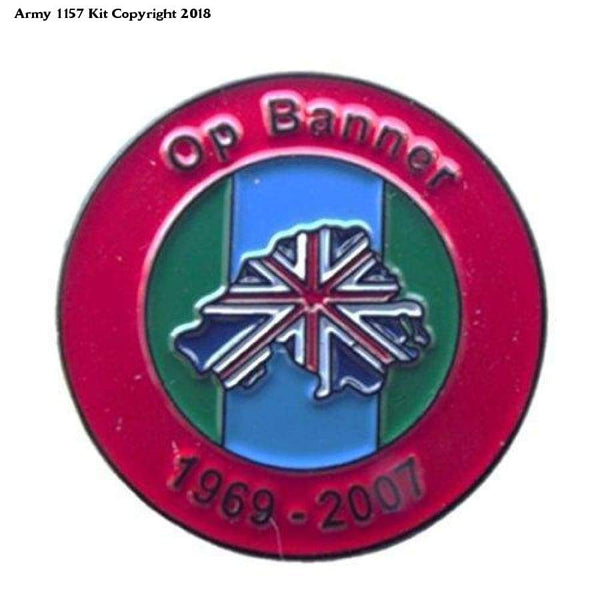 Op Banner Hm Forces Veteran Pin Badge Northern Ireland - 25Mm / Multicoloured - Apparel