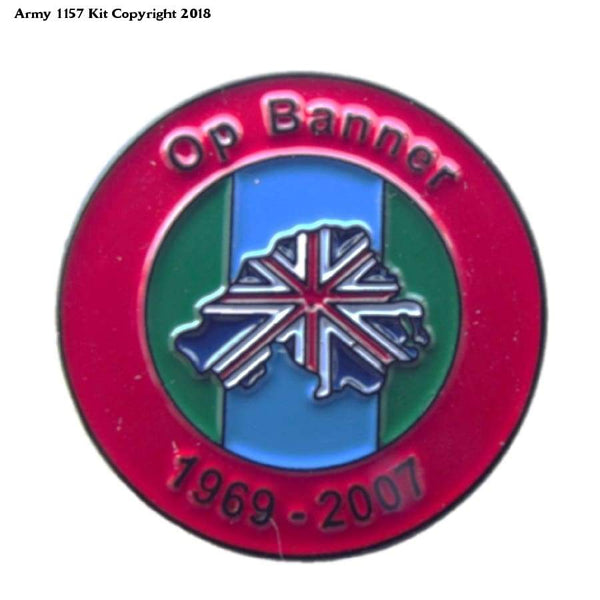 Op Banner Hm Forces Veteran Pin Badge Northern Ireland - Apparel