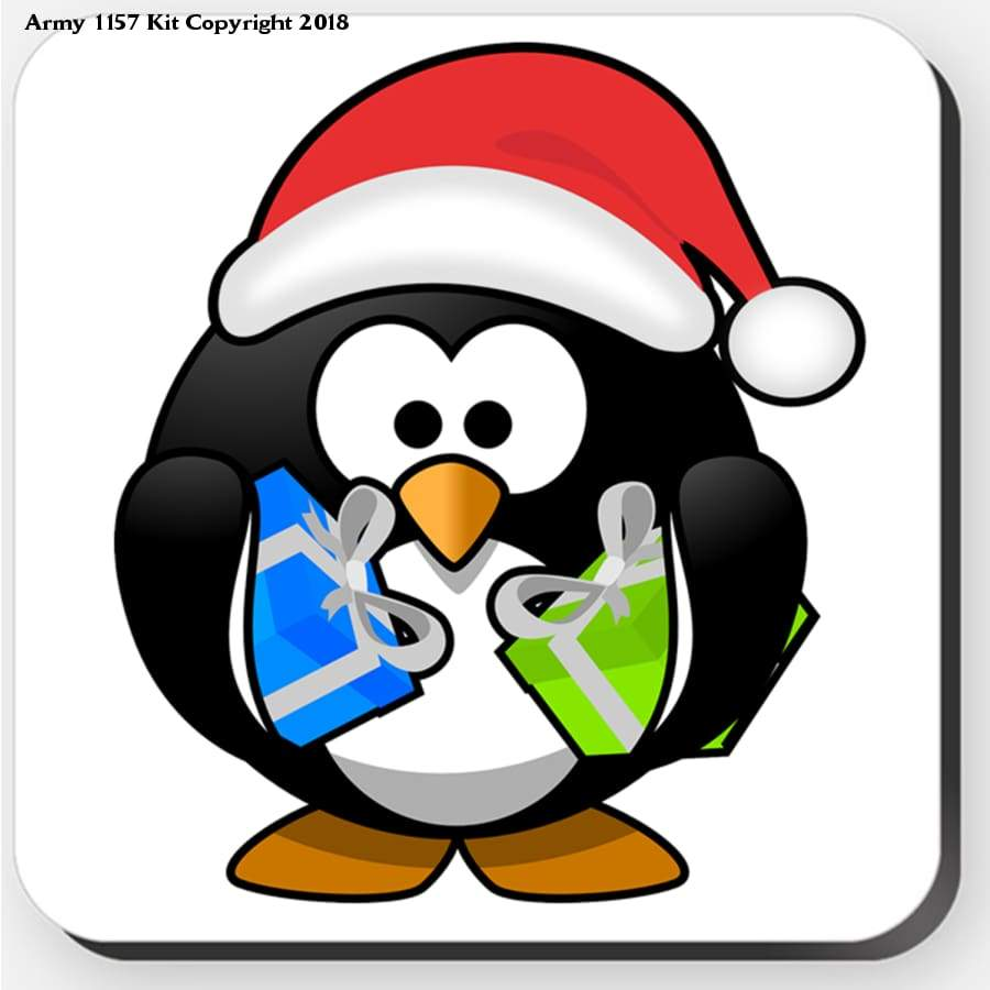 Penguin - Coaster. Part Of The Army 1157 Kit Christmas Collection - Tableware