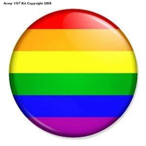 Rainbow Badge Button Pin Lgbt Gay Pride Diversity Peace (Size Is 1.5 Inch/38Mm Diameter) - (Size Is 1.5 Inch/38Mm Diameter) / Multicoloured