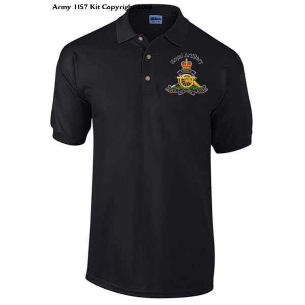 Royal Artillery Polo Shirt Official Mod Approved Merchandise - S / Black - Polo Shirt