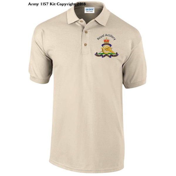 Royal Artillery Polo Shirt Official Mod Approved Merchandise - S / Sand - Polo Shirt