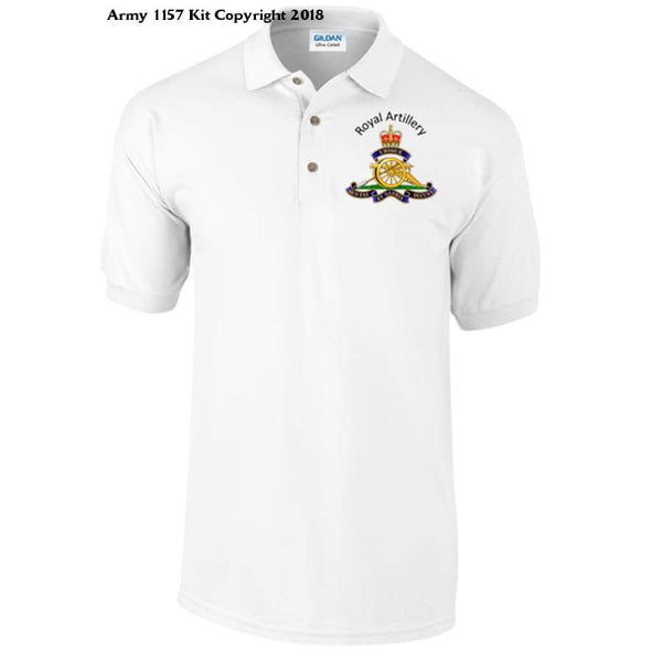 Royal Artillery Polo Shirt Official Mod Approved Merchandise - S / White - Polo Shirt