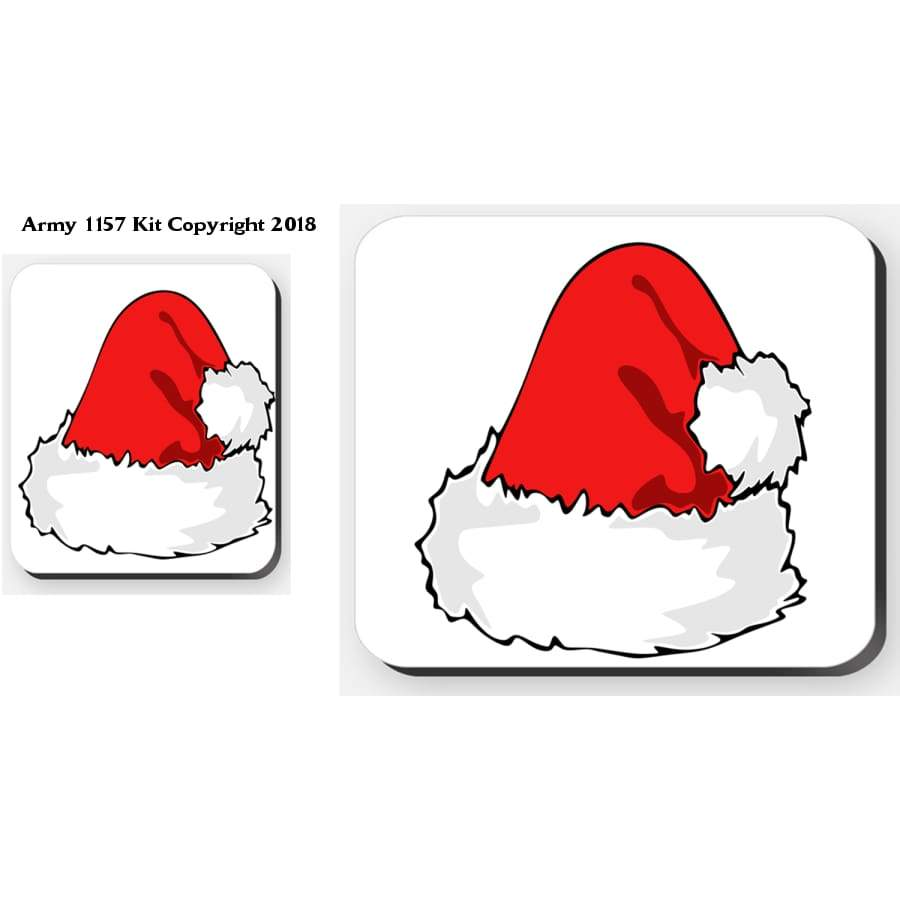Santa´s Hat - 4 Placemats And 4 Coasters Set. Part Of The Army 1157 Kit Christmas Collection - Tableware