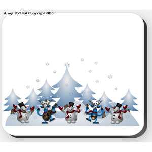 Snowmen Scene - Placemat. Part Of The Army 1157 Kit Christmas Collection - Tableware