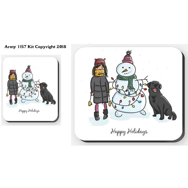Traditional Winter Scene - Placemat. Part Of The Army 1157 Kit Christmas Collection - Tableware