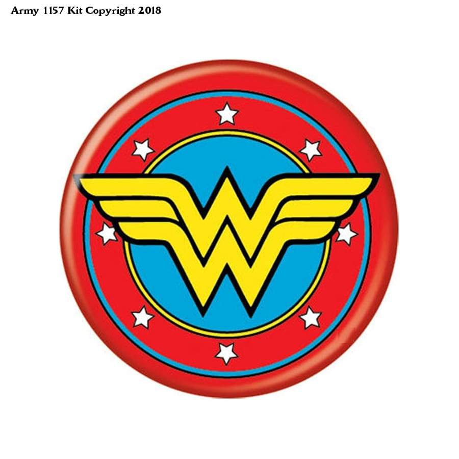 Wonder Woman Button (Size Is 1.5 Inch/38Mm Diameter) - 216.00 Months - Toy
