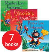 Aliens Love Underpants Collection - 7 Books By Claire Freedman and illustrated by Ben Cort