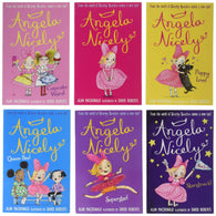 Angela Nicely Collection By David Roberts 6 Books Set (Angela Nicely, Queen Bee, Superstar, Puppy Love, Starstruck, Cupcake Wars)  (Dirty Bertie Sister)