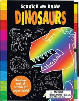 Scratch and Draw: Dinosaurs (Hardback)