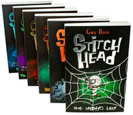 Stitch Head 6 Book Collection - Ages 9-14 - Paperback - Guy Bass by Stripes (Little Tiger Press)