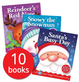 Christmas Sticker and Activity Book Collection - 10 Books (Collection)