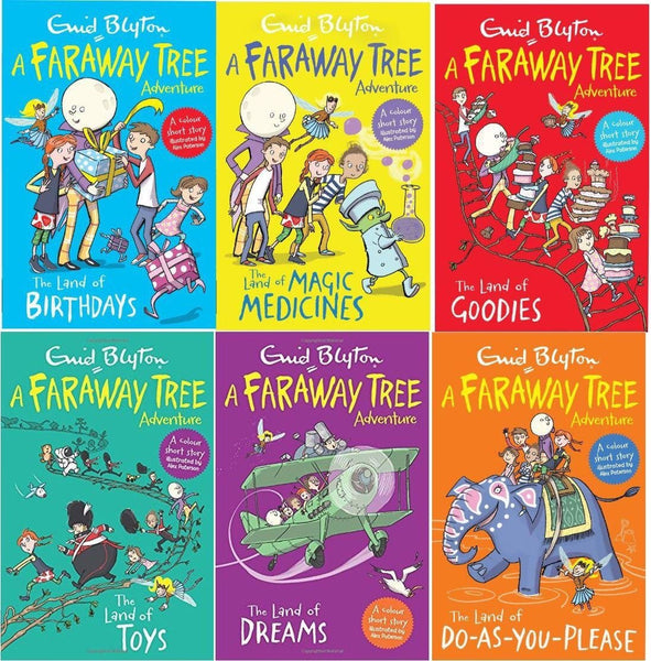 Enid Blyton The Faraway Tree Adventures 6 Book Collection