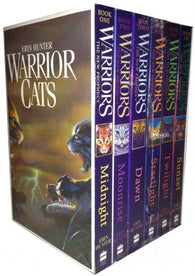 Warriors Cats Series 2: The New Prophecy by Erin Hunter 6 Books Set (Midnight, Moonrise, Dawn, Starlight, Twilight, Sunset)