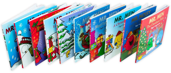 Mr Men Christmas 10 Books Collection By Roger Hargreaves