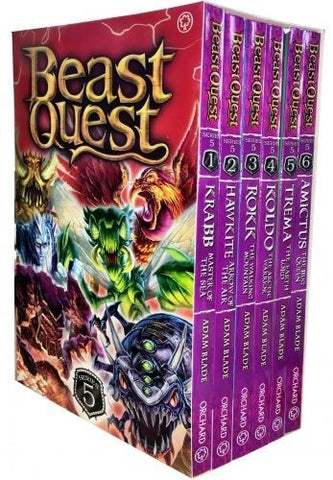 Beast Quest Series 5 Collection - 6 Books