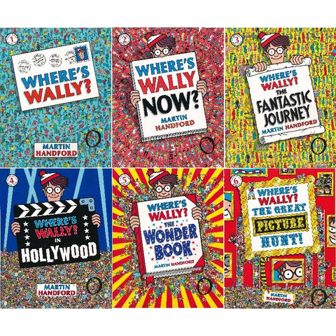 Where's Wally? Wow Collection 6 Large Books Set 威利在哪里6册