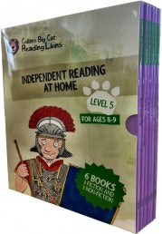 Big Cat Reading Lions Level 5: Independent Reading at Home 6 Books Collection Box Set(Collins Big Cat Reading Lions)
