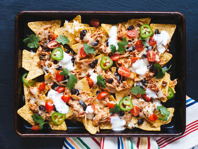 Family Style Slow Cooker Chicken Nachos