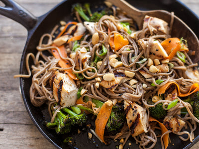 Asian Chicken with Peanut Soba Noodles