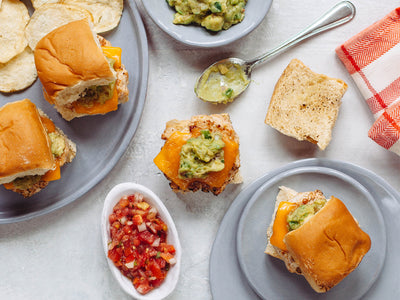 Mexican Turkey Burger Sliders