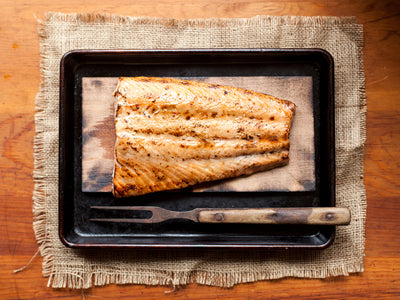 Maple Mustard Cedar Plank Salmon