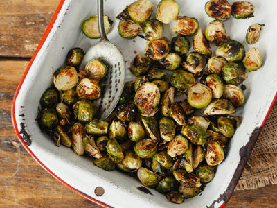 Asian Roasted Brussels Sprouts with Bacon