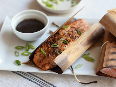 Cedar Wrapped Salmon with Sweet Balsamic Mustard Sauce