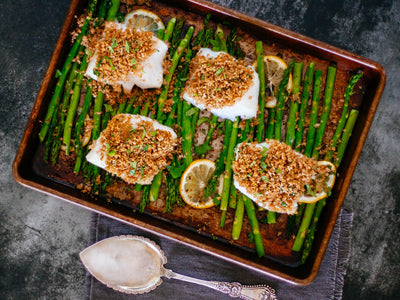 Sheet Pan Roasted Fish with Asparagus