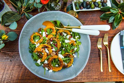 Roasted Delicata Squash and Arugula Salad